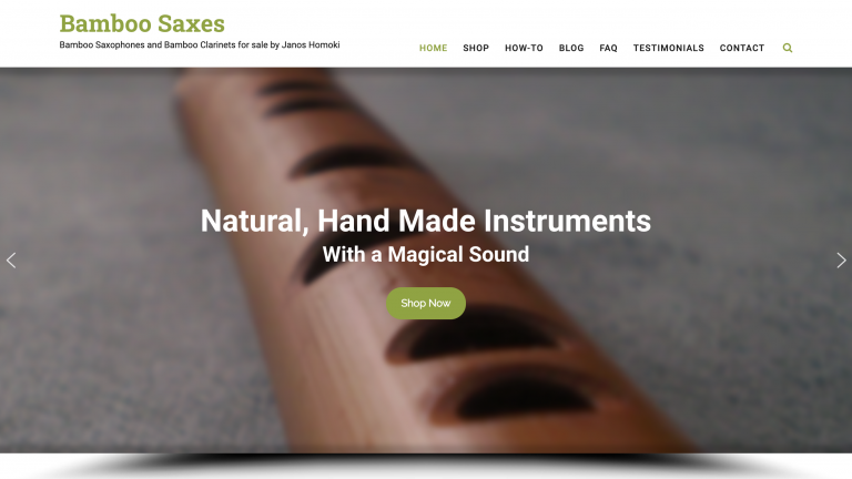 New Bamboo Saxes Website in English